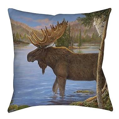 Manual Woodworkers & Weavers Majestic Moose Indoor/Outdoor Throw Pillow; 18'' H x 18'' W x 5'' D