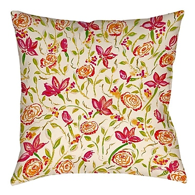 Manual Woodworkers & Weavers Julia's Fancy Printed Throw Pillow; 18'' H x 18'' W x 5'' D