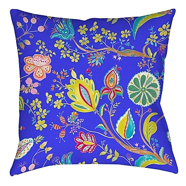 Manual Woodworkers & Weavers La Roque Summer Floral Printed Throw Pillow; 16'' H x 16'' W x 4'' D