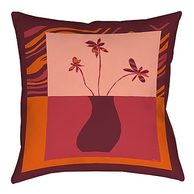 Manual Woodworkers & Weavers Minimalist Flowers 3 Printed Throw Pillow; 16'' H x 16'' W x 4'' D