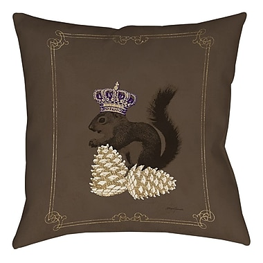 Manual Woodworkers & Weavers Luxury Lodge Squirrel Printed Throw Pillow; 26'' H x 26'' W x 7'' D