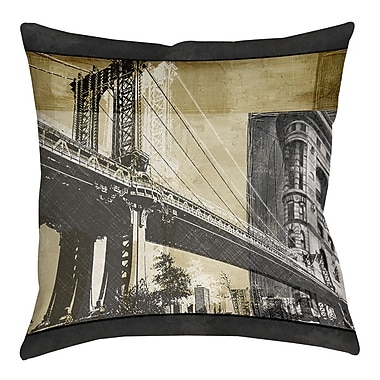 Manual Woodworkers & Weavers Metropolitan Collage 2 Printed Throw Pillow; 18'' H x 18'' W x 5'' D