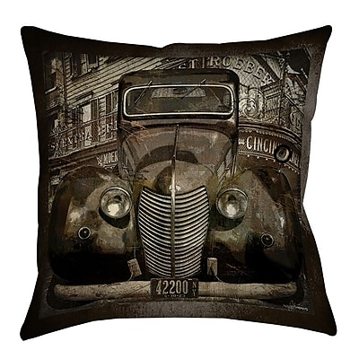 Manual Woodworkers & Weavers Old New York Printed Throw Pillow; 14'' H x 14'' W x 3'' D