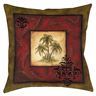 Manual Woodworkers & Weavers Palm Breezes V Indoor/Outdoor Throw Pillow; 20'' H x 20'' W x 5'' D