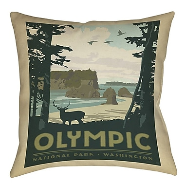 Manual Woodworkers & Weavers Olympic Printed Throw Pillow; 18'' H x 18'' W x 5'' D