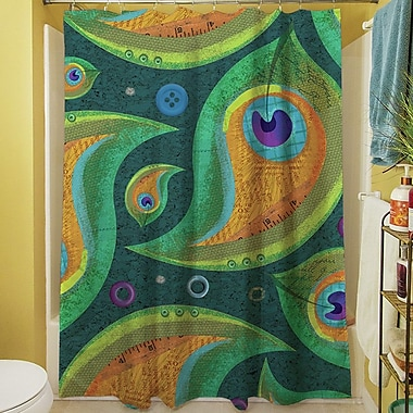 Manual Woodworkers & Weavers Peacock Shower Curtain