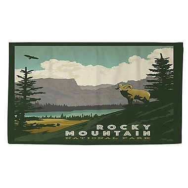 Manual Woodworkers & Weavers Rocky Mountain National Park Area Rug; 2' x 3'