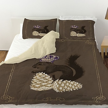 Manual Woodworkers & Weavers Luxury Lodge Squirrel Duvet Cover; King