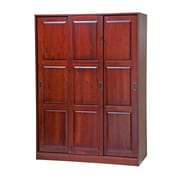 PalaceImports Three-Sliding Door Armoire; Mahogany