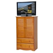 PalaceImports Petite TV-Armoire; Honey Pine