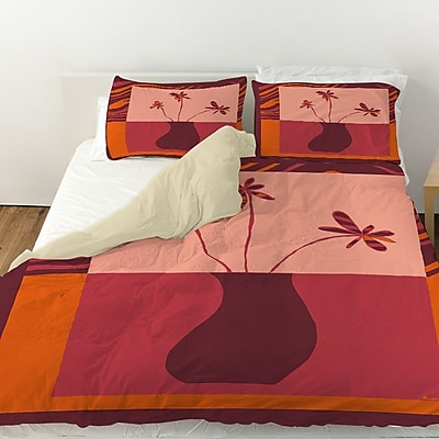 Manual Woodworkers & Weavers Minimalist Flowers 3 Duvet Cover; Twin