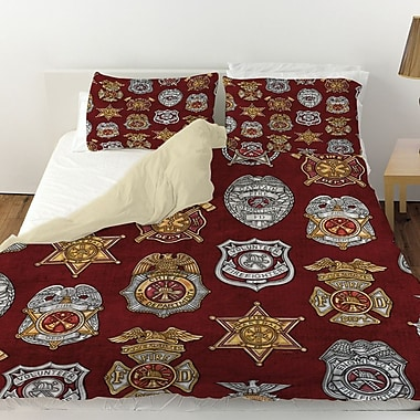 Manual Woodworkers & Weavers Firefighter Badges Duvet Cover; King