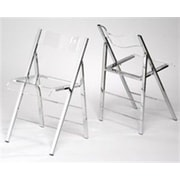 Alston Lucite Folding Side Chair (Set of 2); Clear