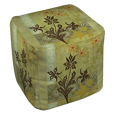 Manual Woodworkers & Weavers Collage Blossoms Ottoman