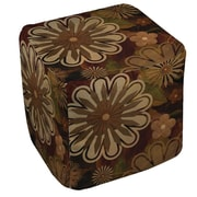 Manual Woodworkers & Weavers Floral Abstract 1 Ottoman