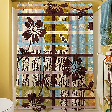 Manual Woodworkers & Weavers Floral Study in Plaid Shower Curtain