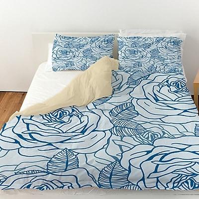 Manual Woodworkers & Weavers Rose Tonic Duvet Cover; Twin