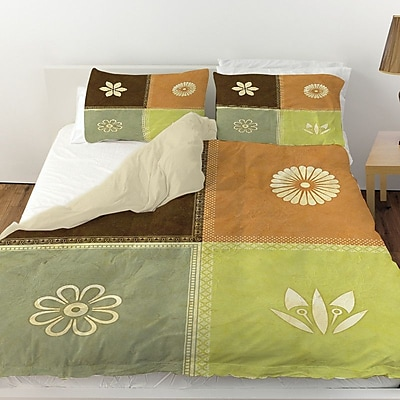 Manual Woodworkers & Weavers Graphic Garden Sage Duvet Cover; Twin
