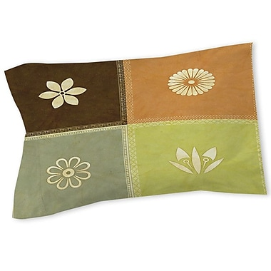 Manual Woodworkers & Weavers Graphic Garden Sage Sham; Twin
