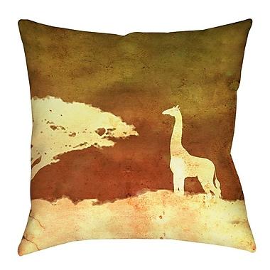 Manual Woodworkers & Weavers Safari Sunrise 4 Indoor/Outdoor Throw Pillow; 16'' H x 16'' W x 4'' D