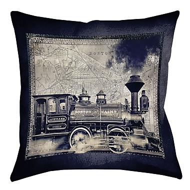 Manual Woodworkers & Weavers Railway Beantown Printed Throw Pillow; 20'' H x 20'' W x 5'' D