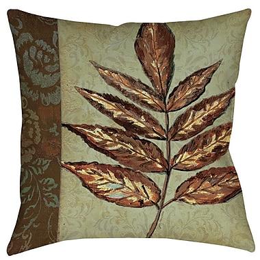 Manual Woodworkers & Weavers Golden Leaf 2 Indoor/Outdoor Throw Pillow; 20'' H x 20'' W x 5'' D