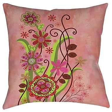 Manual Woodworkers & Weavers Flower Power Stems Indoor/Outdoor Throw Pillow; 20'' H x 20'' W x 5'' D