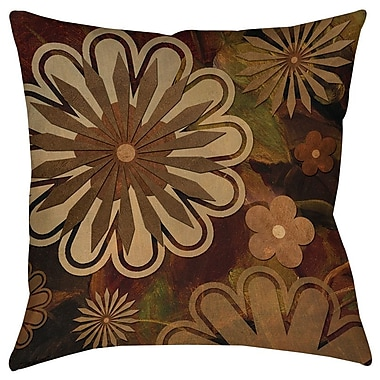 Manual Woodworkers & Weavers Floral Abstract I Printed Throw Pillow; 20'' H x 20'' W x 5'' D
