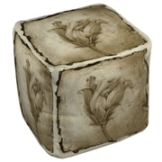 Manual Woodworkers & Weavers Floral Impression 8 Ottoman