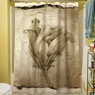 Manual Woodworkers & Weavers Floral Impression VIII Shower Curtain