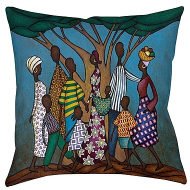 Manual Woodworkers & Weavers Family Tree Printed Throw Pillow; 26'' H x 26'' W x 7'' D