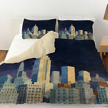 Manual Woodworkers & Weavers Midnight in Midtown Duvet Cover; Twin