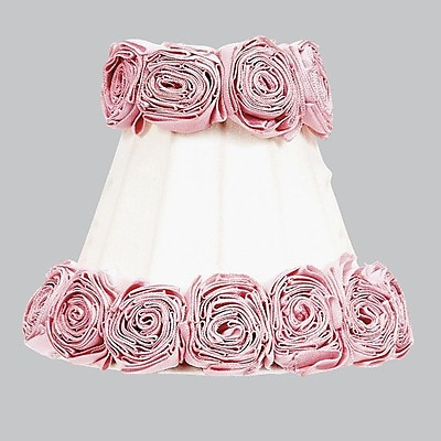 Jubilee Collection Ring of Roses 3'' Cotton Bell Candelabra Shade