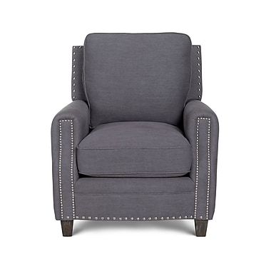 Opulence Home Bradford II Linen Arm Chair; Gray