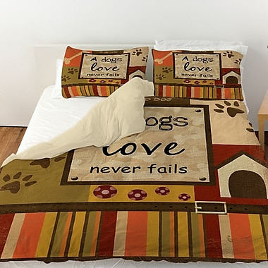 Manual Woodworkers & Weavers Love Never Fails Duvet Cover; King