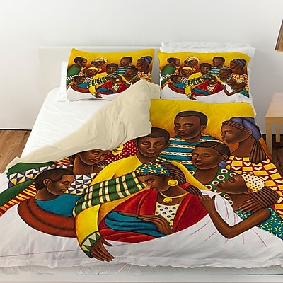 Manual Woodworkers & Weavers Family Photo Duvet Cover; King
