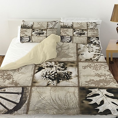 Manual Woodworkers & Weavers Mountain Retreat I Duvet Cover; Queen