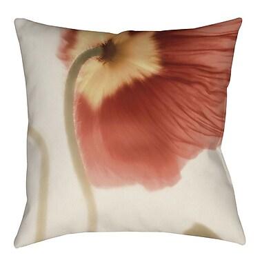 Manual Woodworkers & Weavers Mystic Poppy 2 Indoor/Outdoor Throw Pillow; 16'' H x 16'' W x 4'' D