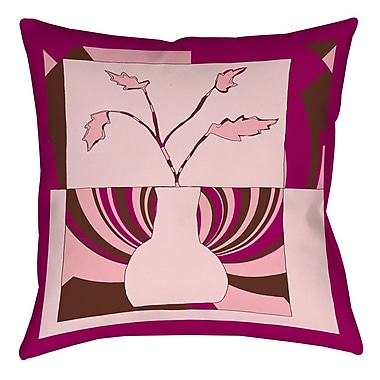 Manual Woodworkers & Weavers Minimalist Flowers 1 Printed Throw Pillow; 16'' H x 16'' W x 4'' D
