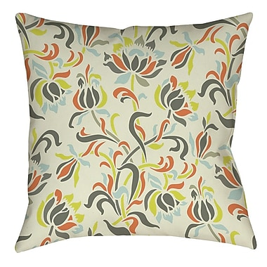 Manual Woodworkers & Weavers Napoli November 100 Printed Throw Pillow; 16'' H x 16'' W x 4'' D