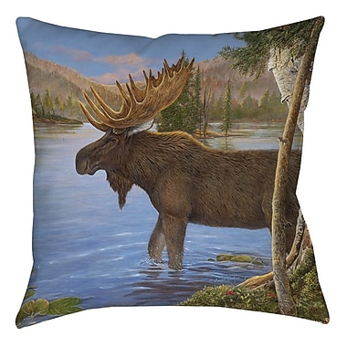 Manual Woodworkers & Weavers Majestic Moose Printed Throw Pillow; 18'' H x 18'' W x 5'' D