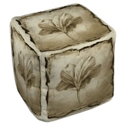 Manual Woodworkers & Weavers Floral Impression 9 Ottoman