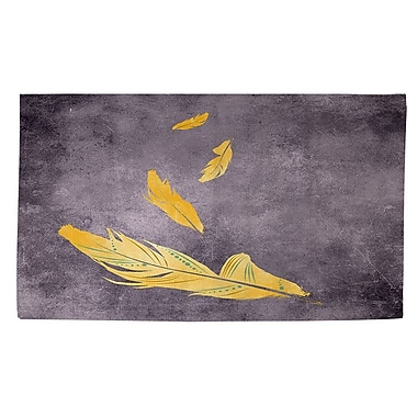 Manual Woodworkers & Weavers Feather Float Gold Area Rug; 2' x 3'