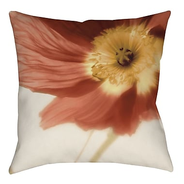 Manual Woodworkers & Weavers Mystic Poppy 1 Printed Throw Pillow; 20'' H x 20'' W x 5'' D