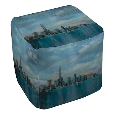 Manual Woodworkers & Weavers Manhattan Tower of Hope Ottoman