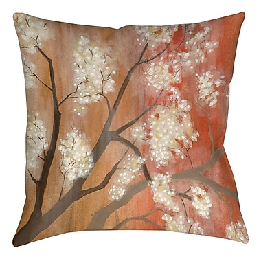 Manual Woodworkers & Weavers Mandarin Mist 1 Printed Throw Pillow; 16'' H x 16'' W x 4'' D