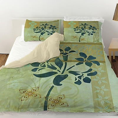 Manual Woodworkers & Weavers Patterned Collage Blossoms Duvet Cover; King