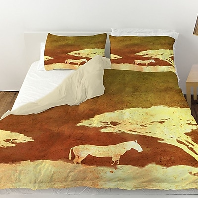 Manual Woodworkers & Weavers Safari Sunrise 3 Duvet Cover; King