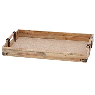 ABCHomeCollection Classic Wood Serving Tray