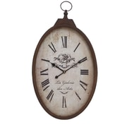 ABCHomeCollection Elegant Rustic Oval Wall Clock